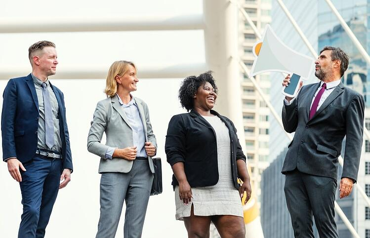 email marketing tone - businessman with megaphone