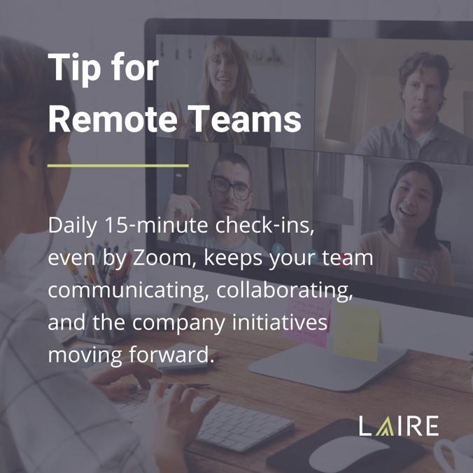 Remote Teams blog tip