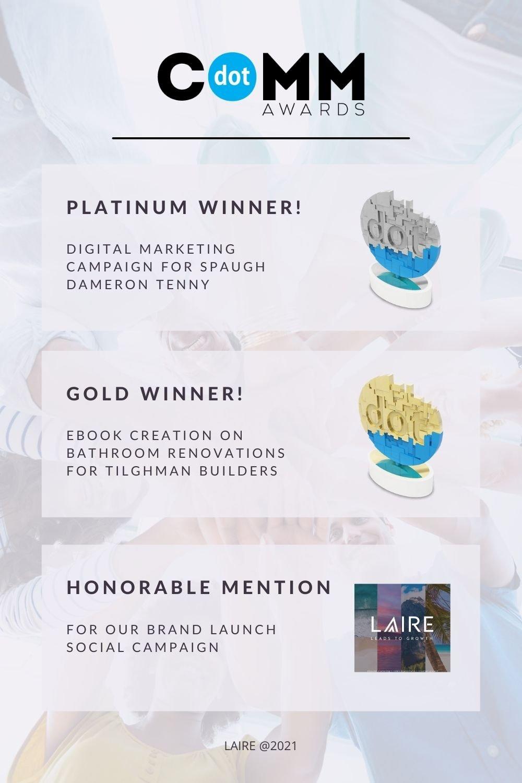 LAIRE - dotCOMM Award Graphics