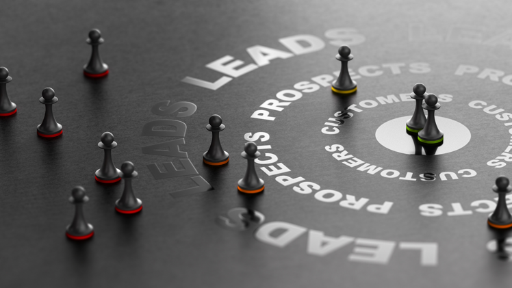 Lead Nurturing | Game pieces in buyers journey from leads to customers