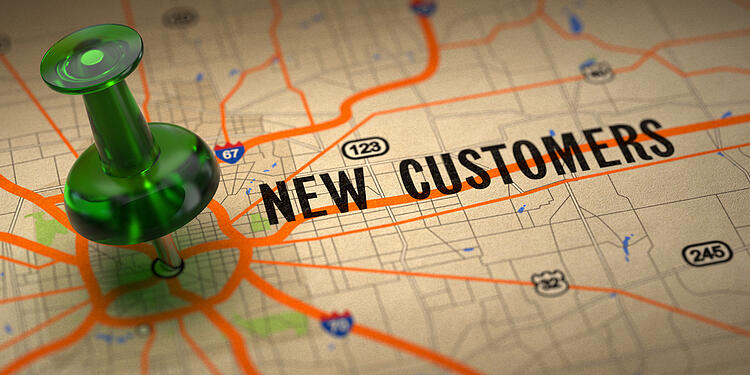 New Customers - Green Pushpin on a Map | Sales Book | Fanatical Prospecting