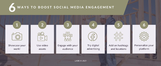 6 ways to boost social media engagement chart